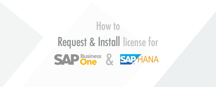 install license for SAP HANA and B1H