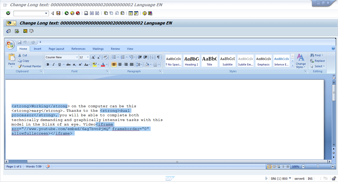 change-long-text-in-sap-editor