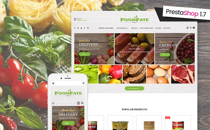 food-prestashop-theme
