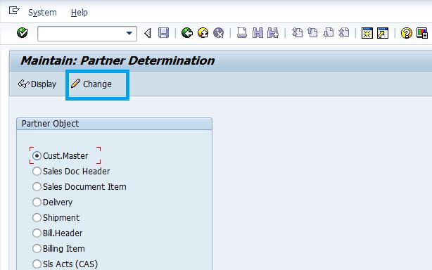 partner-determination-sap-sd-master-data-screen