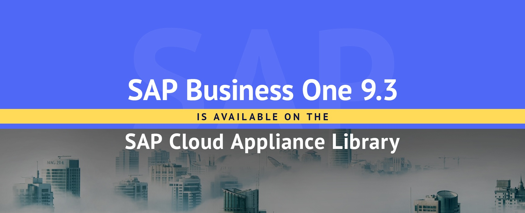 SAP-Business-One-9-3 is-on-the-SAP-Cloud-Appliance-Library