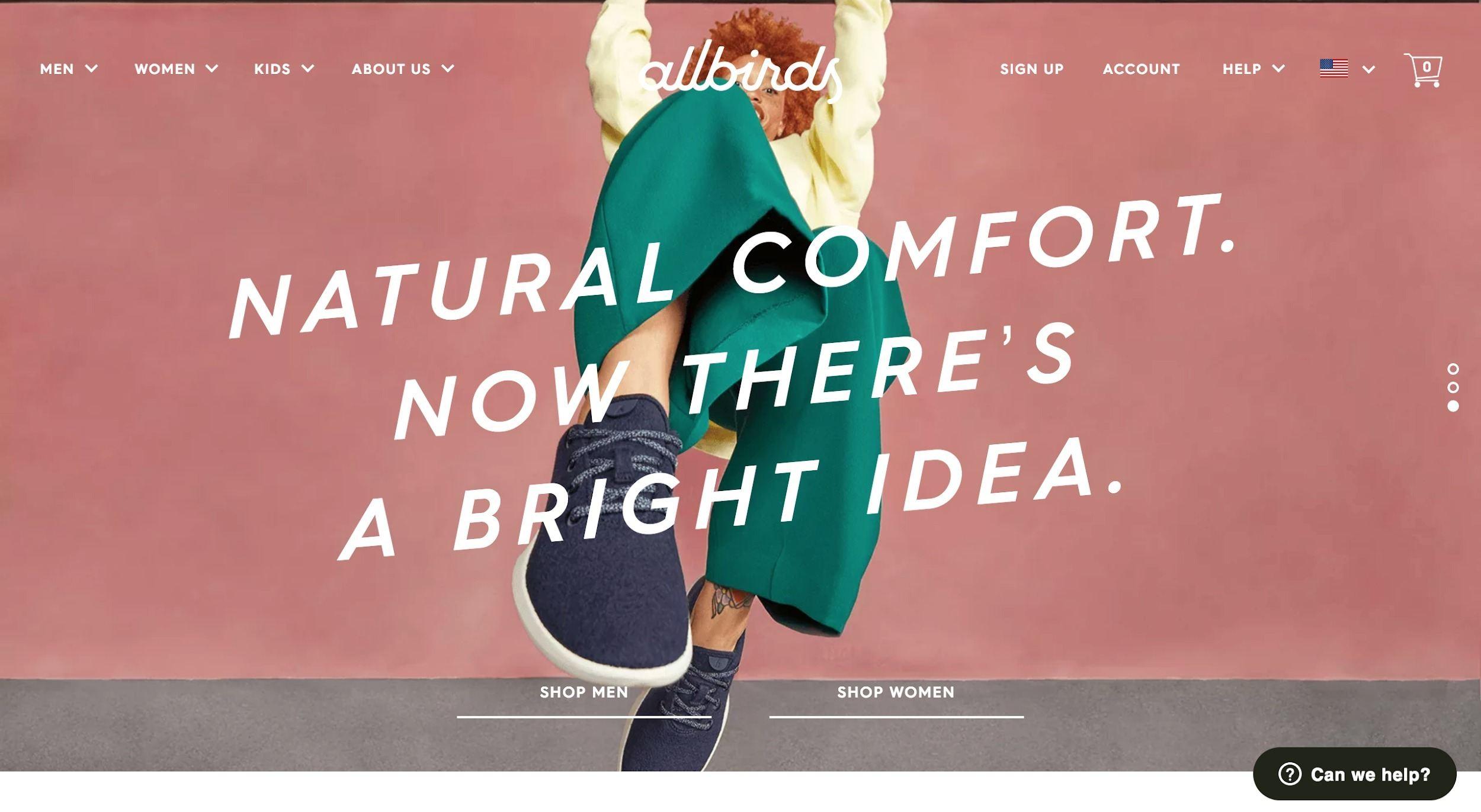 all-birds-shopify-website