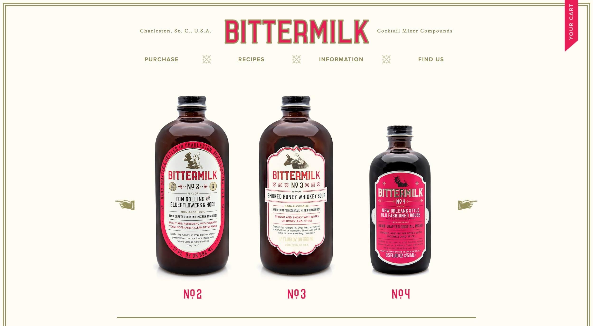 bittermilk-shopify-website