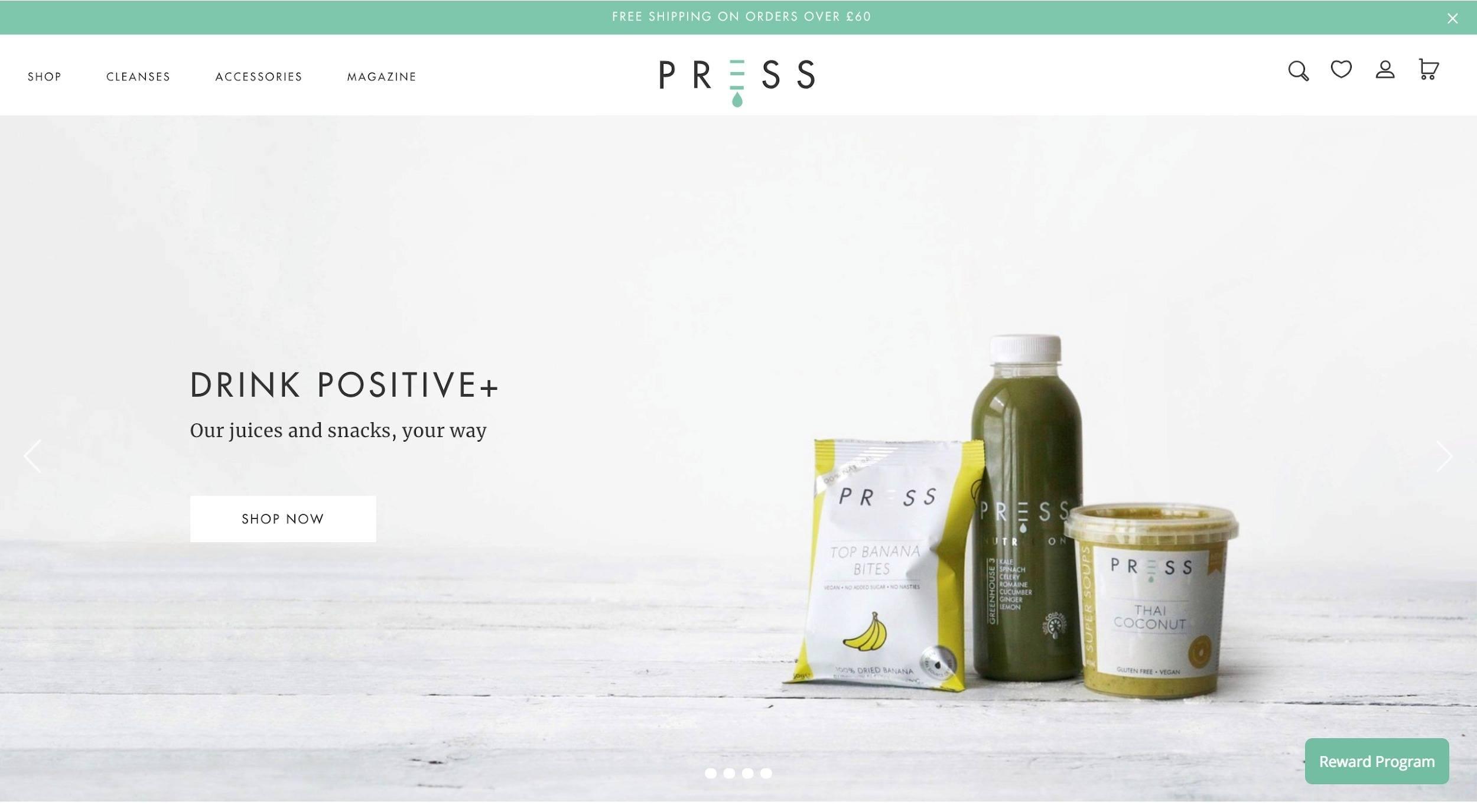 press-london-shopify-website