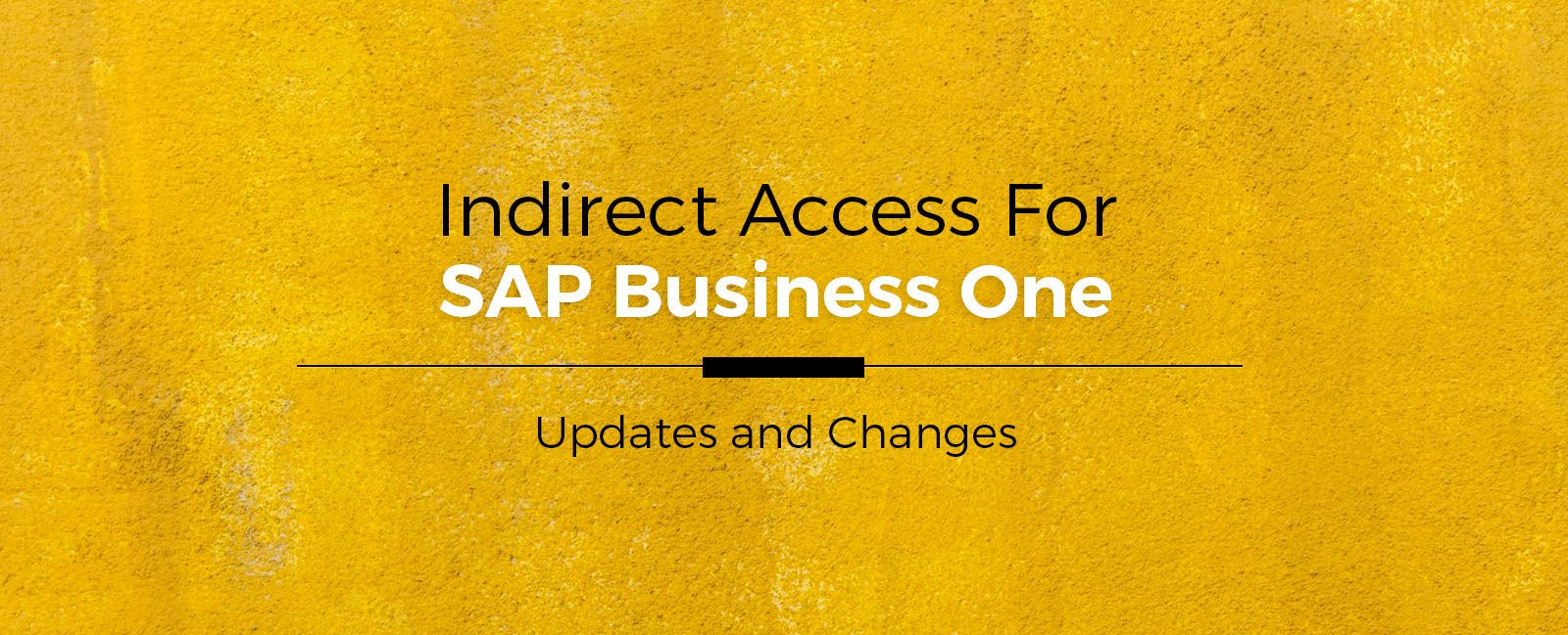 Indirect-Access-For-SAP-Business-One-Updates