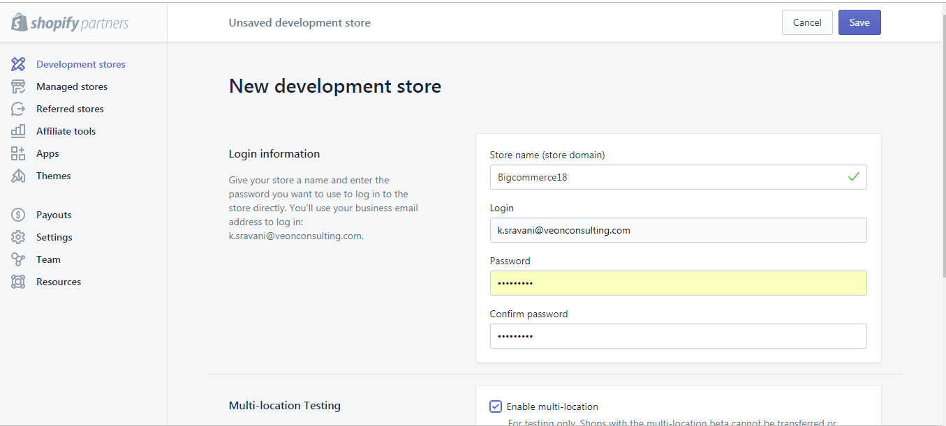 shopify-development-stores