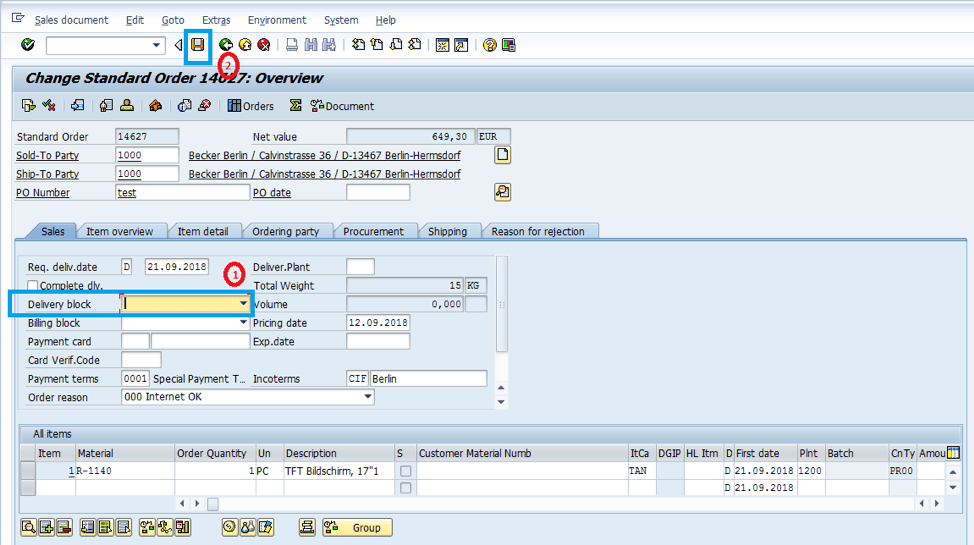 create-sales-order-in-SAP-remove-delivery-block