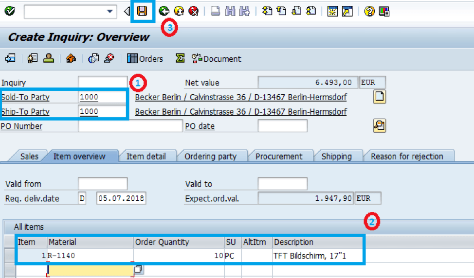 SAP-ECC-Customer-Material-Details