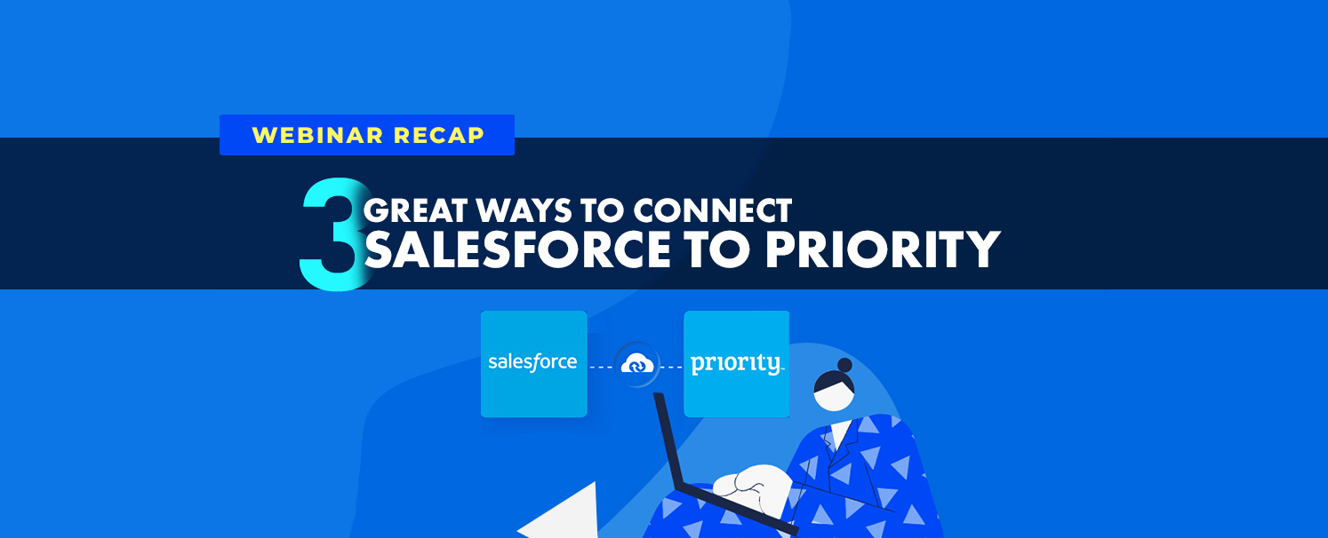 Connect Priority ERP and Salesforce CRM via APPSeCONNECT