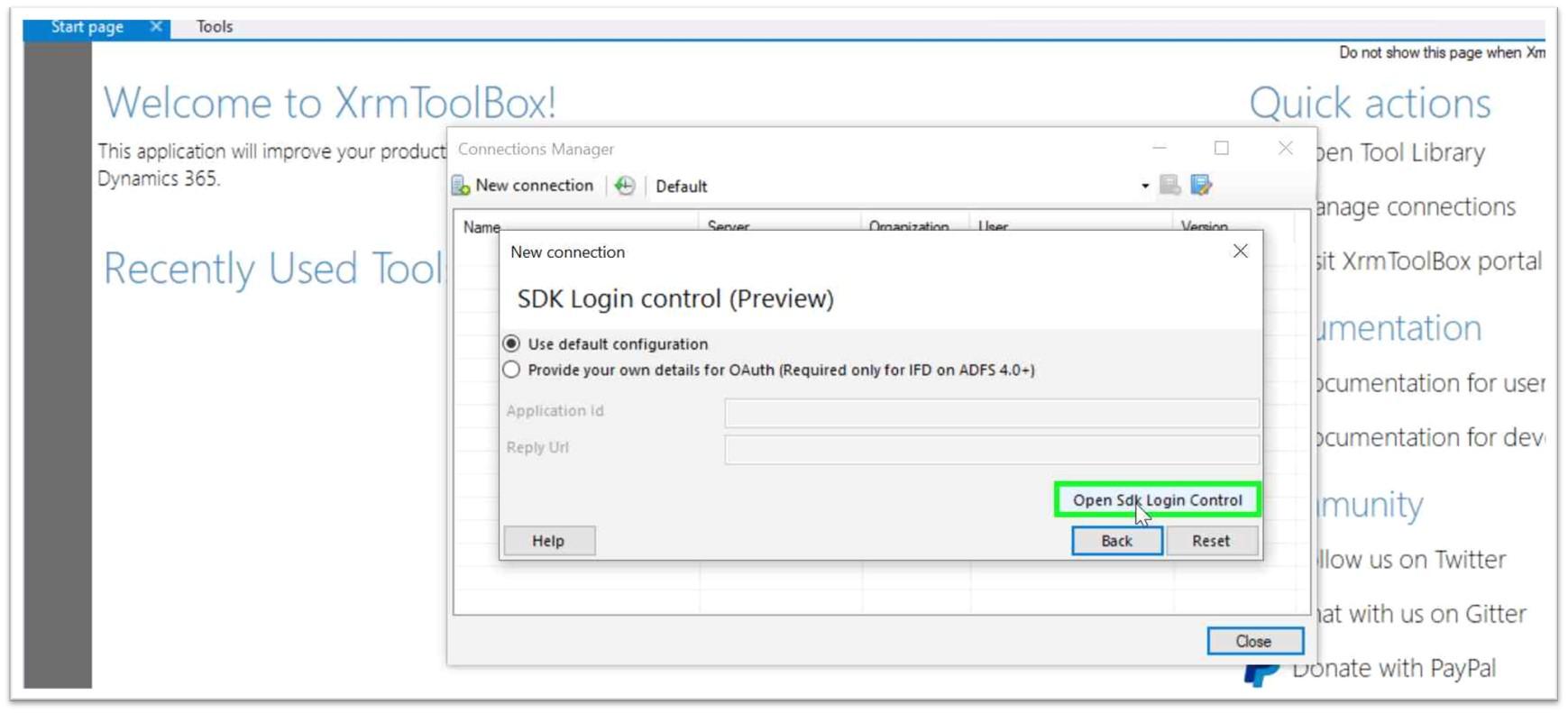XrmToolBox-SDK-login-control