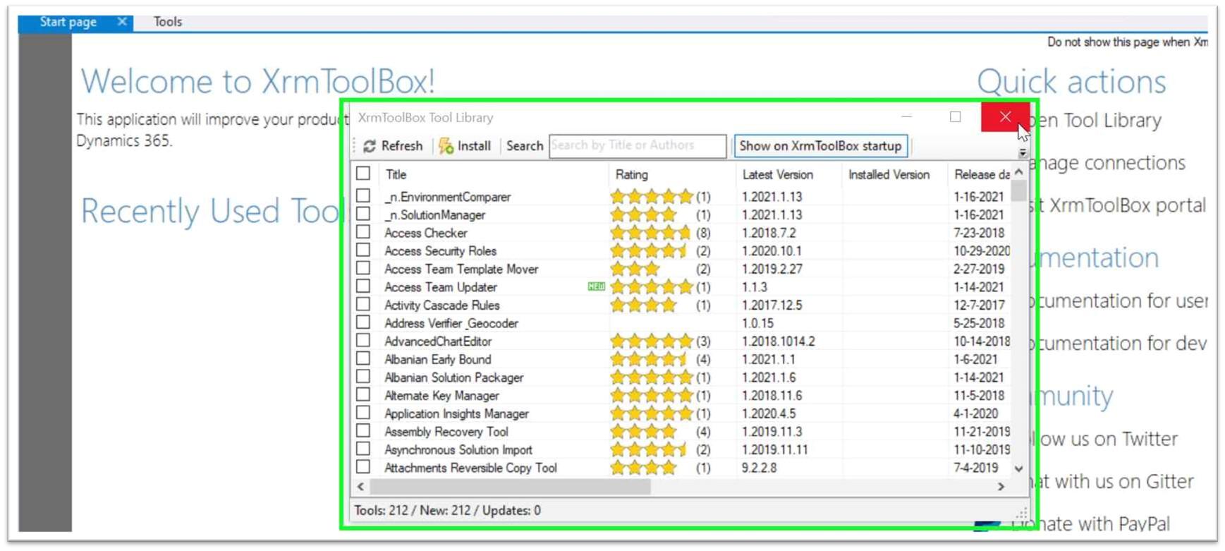 XrmToolBox-tool-Library