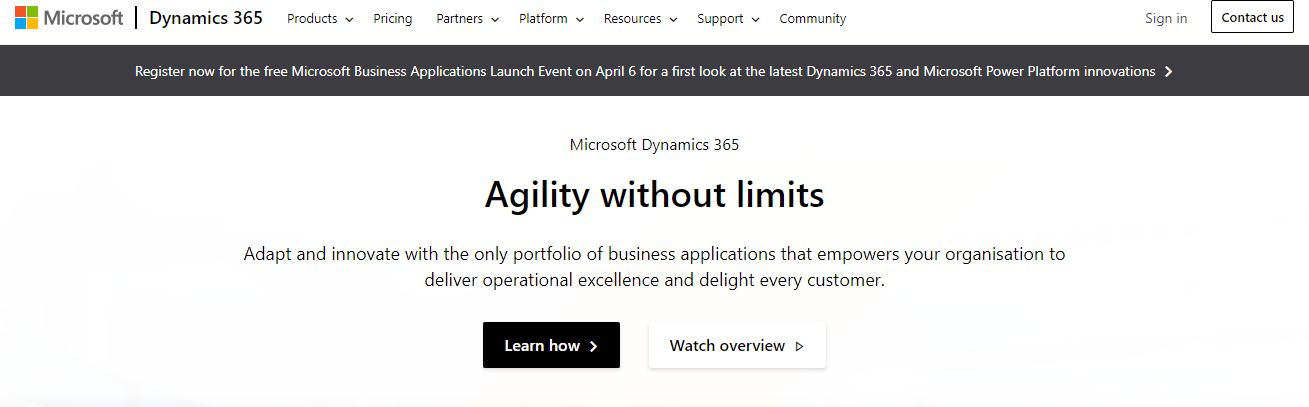 MS dynnamics 365 crm