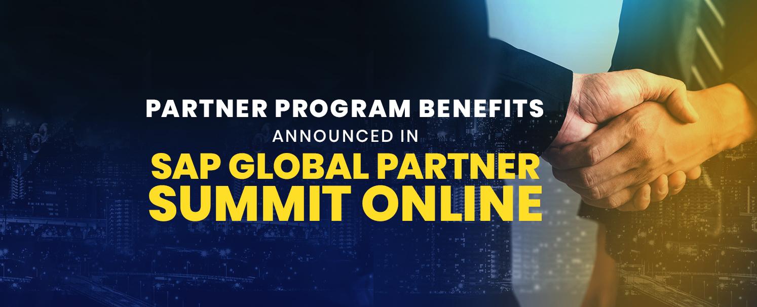 Partner Program Benefits announced in SAP Global Partner Summit