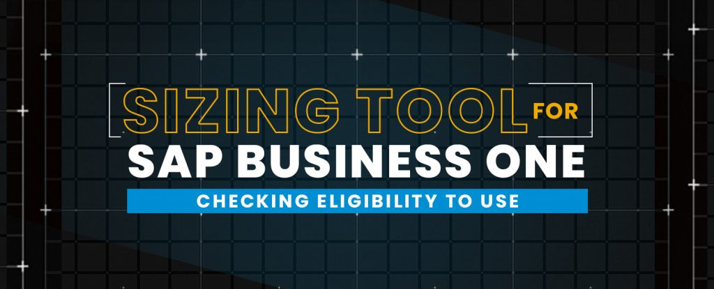 Sizing Tool for SAP Business One - Checking Eligibility to Use copy