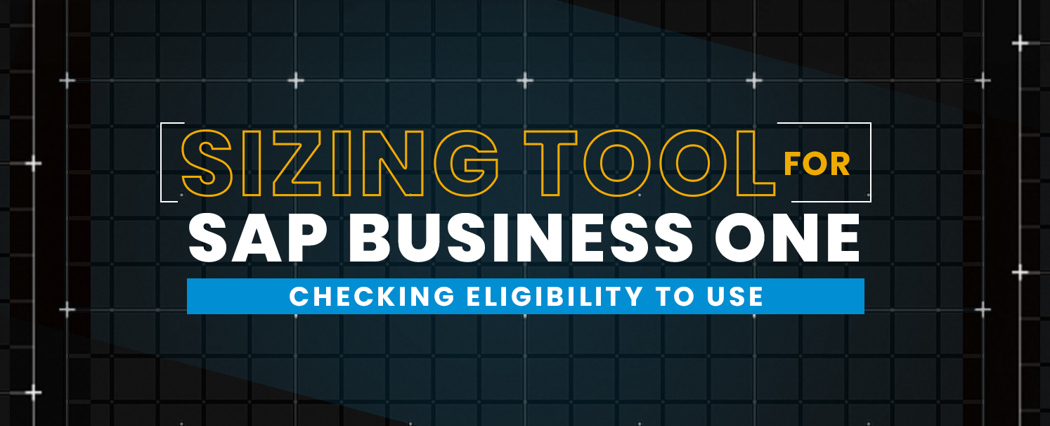 Sizing Tool for SAP Business One – Checking Eligibility to Use