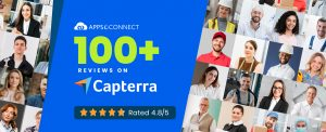 Top Integration Software - APPSeCONNECT Crosses 100 Reviews on Capterra