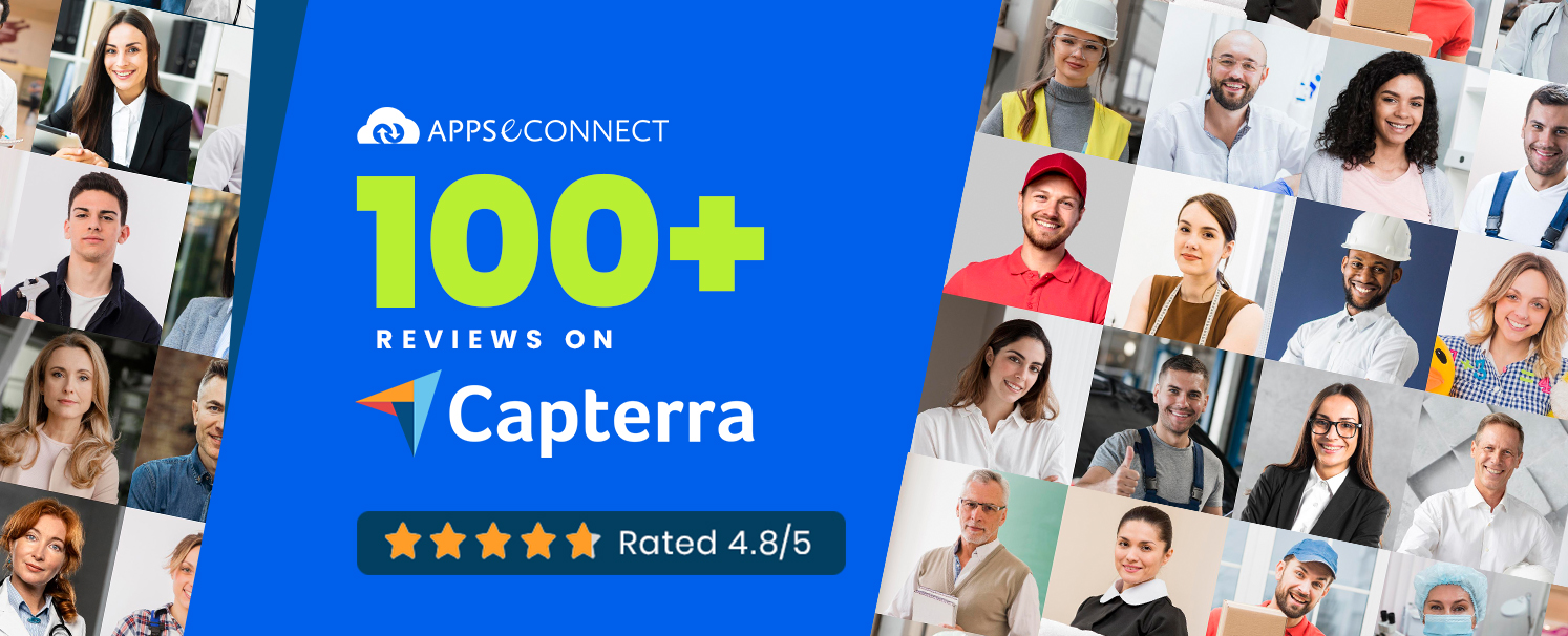 Top Integration Software – APPSeCONNECT Crosses 100 Reviews on Capterra with 4.8 Overall Rating